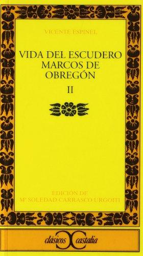 9788470393563: Vida del escudero Marcos de Obregón, II .