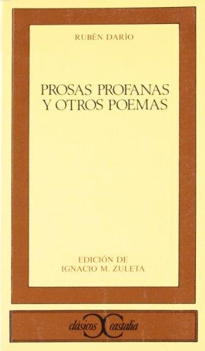 9788470394164: Prosas profanas y otros poemas (Clasicos Castalia) (Spanish Edition)