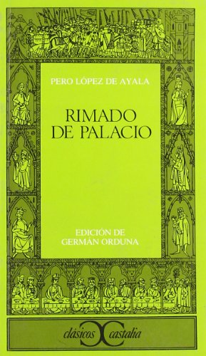9788470394867: Rimado de Palacio (Clásicos Castalia)