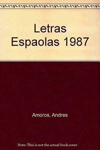 9788470395178: Letras españolas 1987