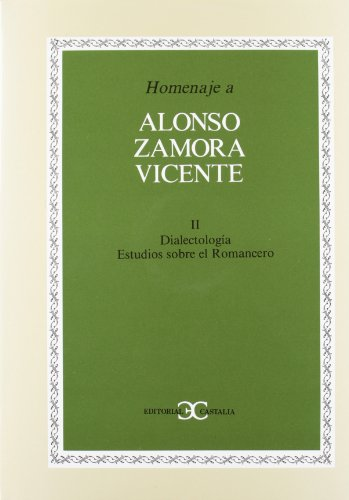 9788470395512: Homenaje a Alonso Zamora Vicente, vol. II .