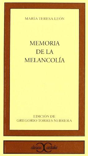 9788470398322: Memoria de la melancolía (CLASICOS CASTALIA. C/C.)