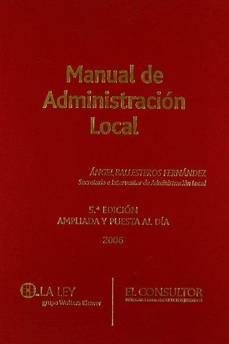 9788470523861: Manual de administración local