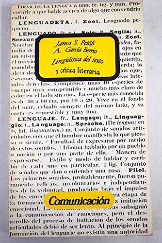 9788470531996: Linguistica del texto y critica literaria