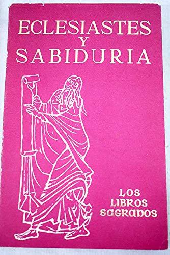 9788470571541: Eclesiastés y sabiduría