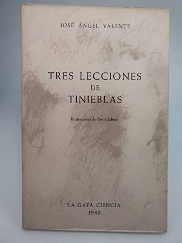 9788470801617: TRES LECCIONES DE TINIEBLAS