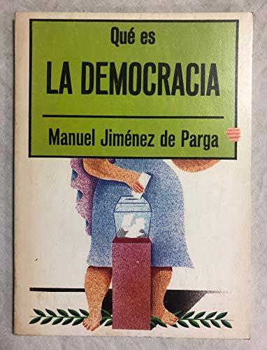 9788470809767: Qué es la democracia (Biblioteca de divulgación pol¸tica)
