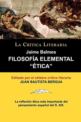 """Filosof a Elemental: """" Tica"""" de Jaime: Jaime Balmes"""