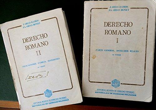 9788471305435: Derecho romano 2vols. (Edersa)