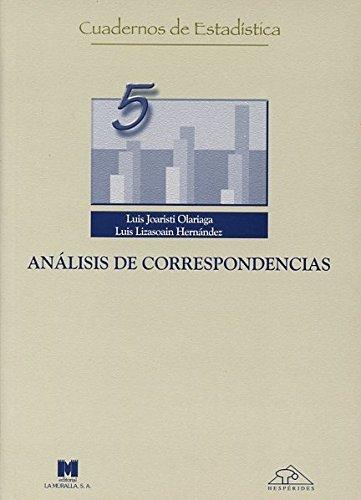 9788471336910: Análisis de correspondencia (Cuadernos de estadística)