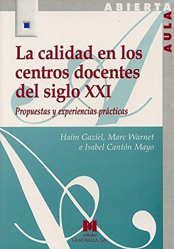 La calidad en los centros docentes del: Cantón Mayo, Isabel;