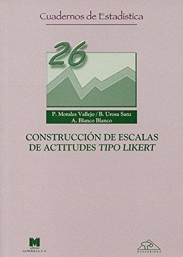 9788471337375: Construcciones de escalas de actitudes tipo likert (Cuadernos de estadística)