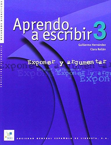 9788471437709: Aprendo a escribir 3 (Cuadernas de Redaccion)