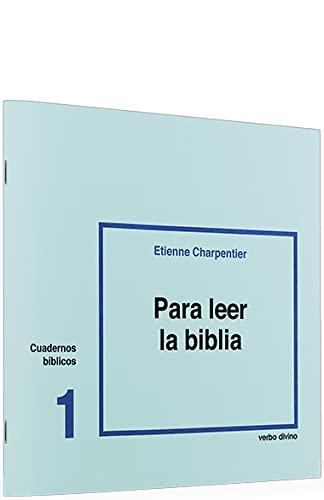 9788471511010: Para leer la Biblia