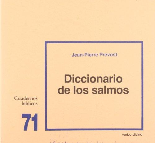 9788471517036: Diccionario de los Salmos: Cuaderno Bíblico 71 (Cuadernos Bíblicos)