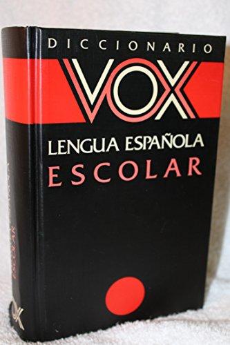 Diccionario vox lengua espa?ol, escolar: n/a