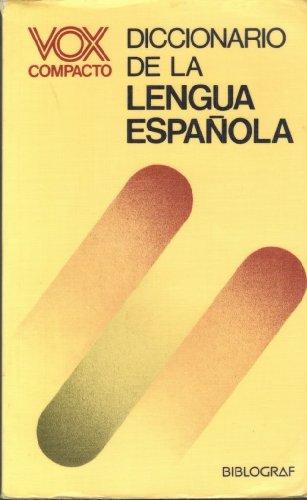 9788471532039: Vox Compacto Diccionario De La Lengua Espa Nola: Con Ilustraciones