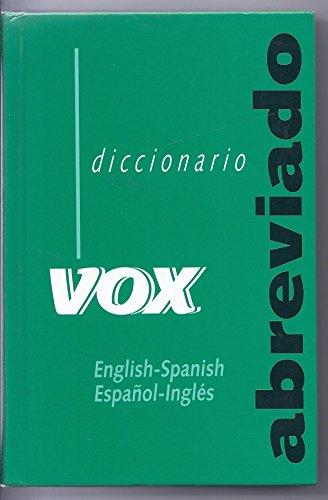 9788471539373: Diccionario abreviado vox ingles-español, español-ingles