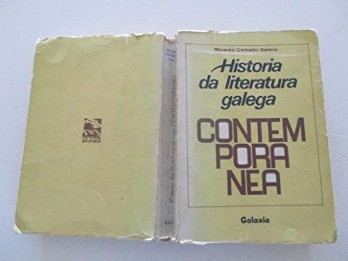 9788471542274: Historia da literatura galega contemporanea