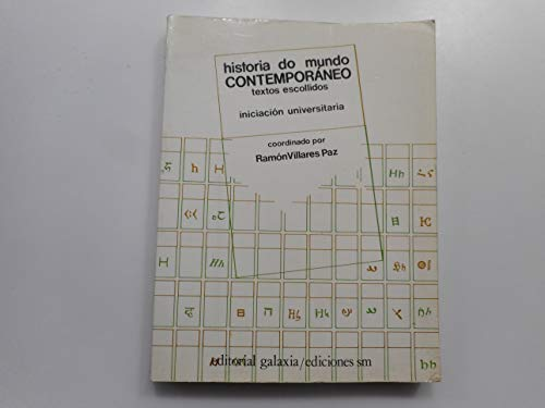 9788471545527: Historia do mundo contemporaneo