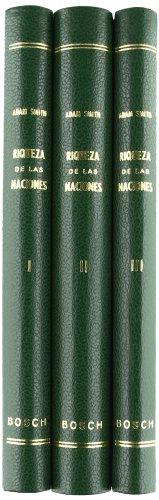 9788471622358: Investigación de la naturaleza y causas de la riqueza de las Naciones: Tres tomos