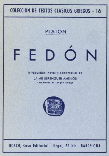9788471625120: Fedón: Introducción, notas y comentarios de J. Berenguer