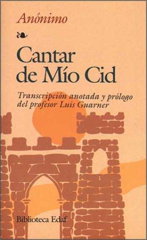 9788471663856 Cantar De Mio Cid Biblioteca Edaf Abebooks