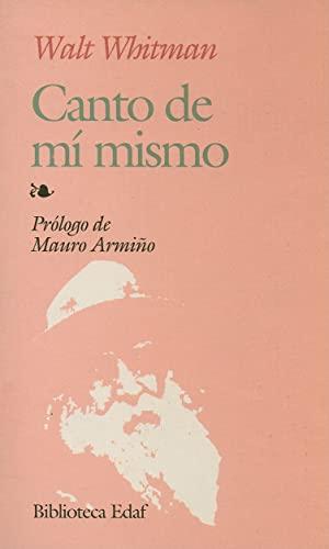 9788471668165: Canto De Mi Mismo (Biblioteca Edaf)