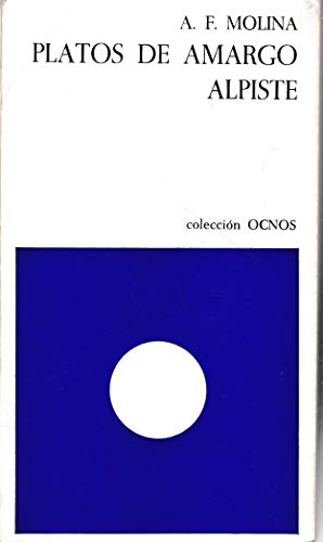 9788471720542: Platos de amargo alpiste (Ocnos, 32) (Spanish Edition)
