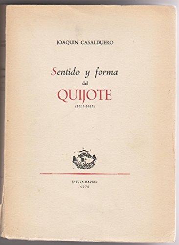 9788471850140: Sentido y forma del quijote