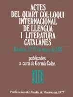 ACTES DEL 4t IV QUART COL LOQUI: COLON, GERMA (edicio)