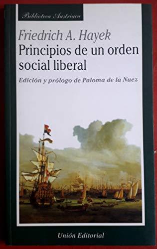9788472093737: Principios de un orden social liberal
