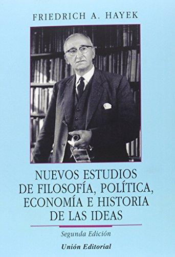 9788472096288: NUEVOS ESTUDIOS DE FILOSOFIA POLITICA ECONOMIA E HISTORIA DE LAS IDEAS