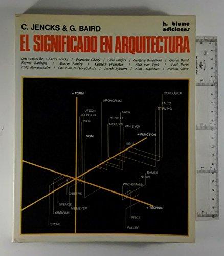 9788472140721: El Significado en Arquitectura