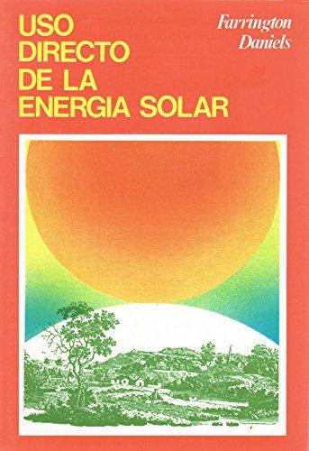 9788472141223: USO DIRECTO DE LA ENERGÍA SOLAR