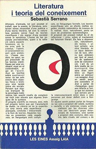 9788472226395: LITERATURA I TEORIA DEL CONEIXEMENT