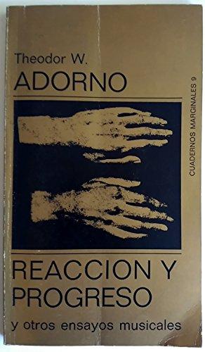 9788472230095: Reaccion y Progreso (Spanish Edition)