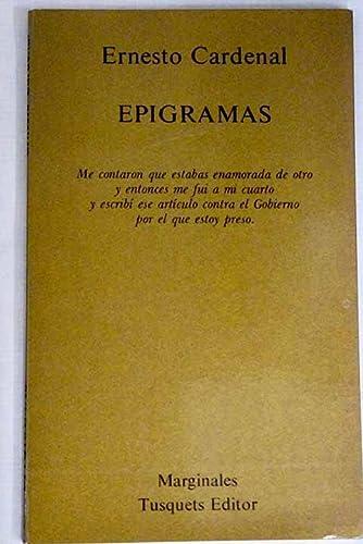 9788472230576: Epigramas (Marginales ; 57) (Spanish Edition)