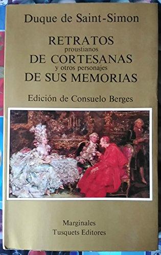9788472230866: Retratos proustianos de cortesanas y otros personajes de sus memorias (.)