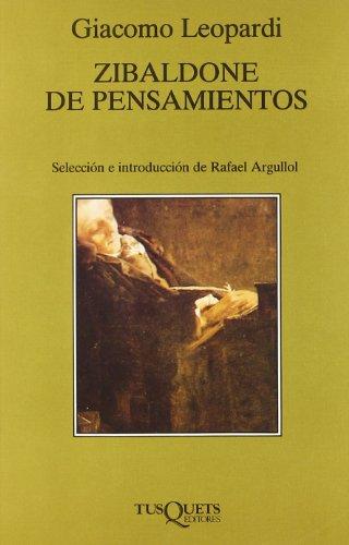 9788472231276: Zibaldone de pensamientos (Volumen Independiente)