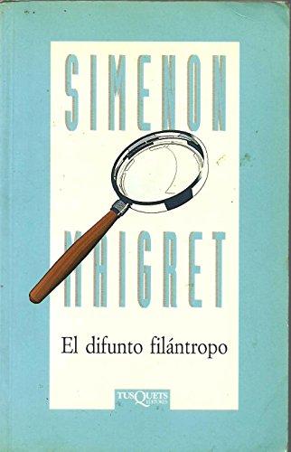 9788472234031: El difunto filantropo (Spanish Edition)