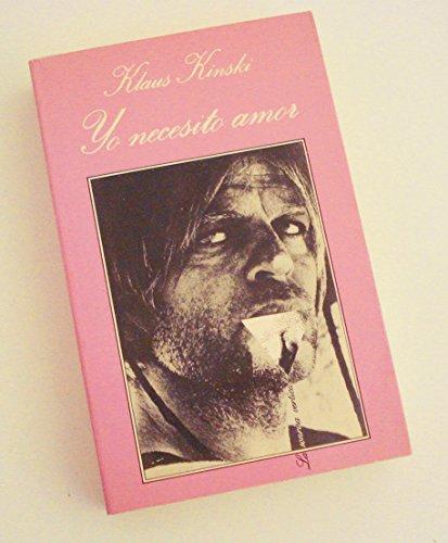 9788472234833: Yo Necesito Amor (Spanish Edition)