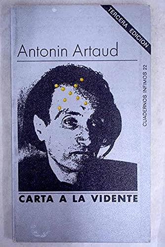 Carta a la vidente (Spanish Edition) (9788472235229) by Artaud, Antonin