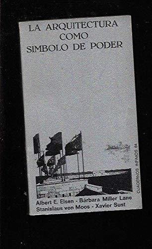 9788472235649: Arquitectura Como Simbolo De Poder (Spanish Edition)