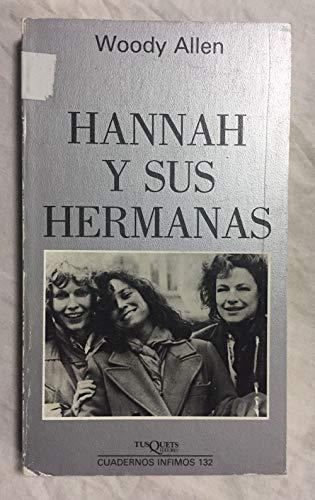 9788472236325: Hannah y Sus Hermanas (Cuadernos Infimos) (Spanish Edition)