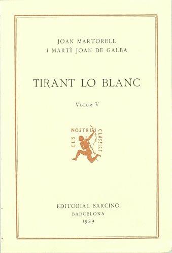 9788472262324: Tirant Lo Blanc V
