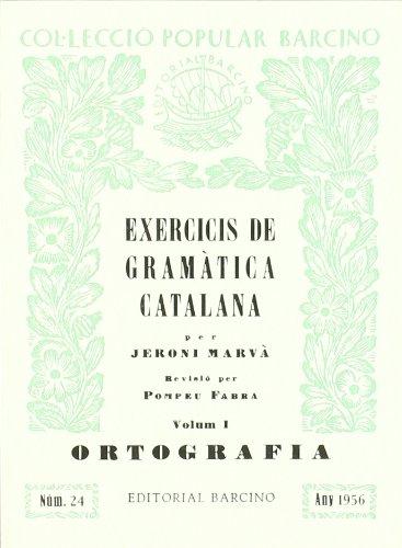 9788472264991: Exercicis De Gramatica Catalana (I:Ortografia)