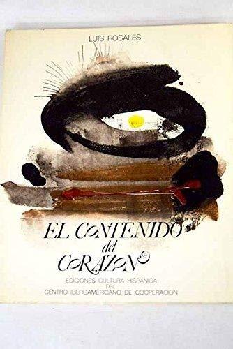 9788472320680: El contenido del corazón (Spanish Edition)
