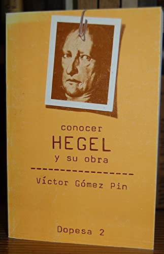 9788472353565: conocer_hegel_y_su_obra