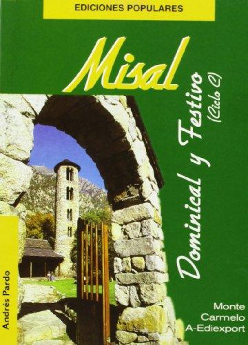 9788472398009: Misal dominical y festivo : (ciclo